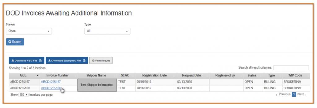 Screenshot of WIP Screen on MyDaycos